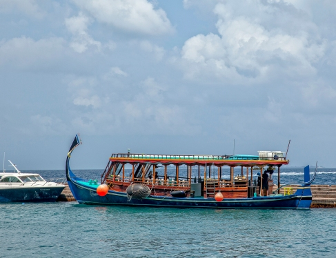 Maldivler- Male-Su altı dalış motoru